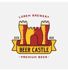 Beer Castle Logo Template vector image
