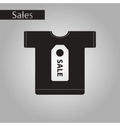 Black and white style icon sale t-shirt vector