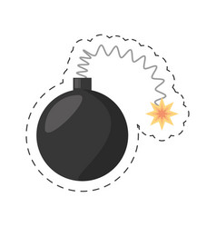 cartoon bomb april fools day vector image vector image