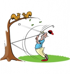 Cartoon golfer vector