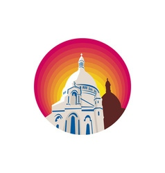 Catholic church dome circle wpa vector