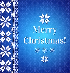 Christmas Background with traditional norwegian vector image vector image