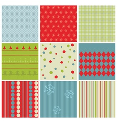 Christmas seamless backgrounds vector