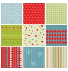 Christmas seamless backgrounds vector