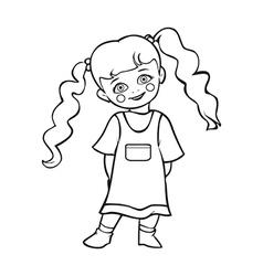 Cute baby girl smiling cute baby girl vector image vector image