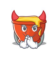 Devil honey character cartoon style vector