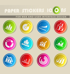 diagram and infographic icons vector image