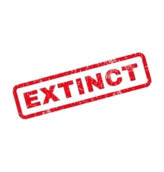 Extinct Text Rubber Stamp vector image