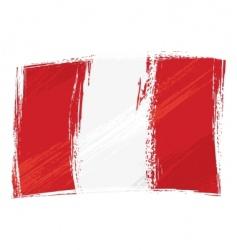 grunge Peru flag vector image vector image