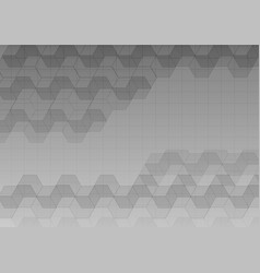 hexagon and straight line gray abstract background vector image vector image