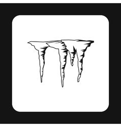 Icicles icon simple style vector