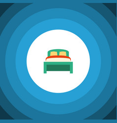 Isolated bedding flat icon furniture vector