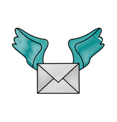 Letter heart flat scribble vector