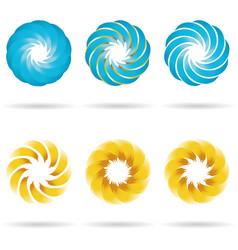 Logo flower icon set vector