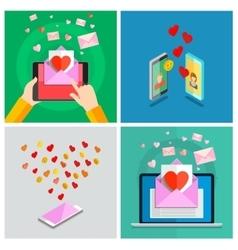 Love set valentines day vector