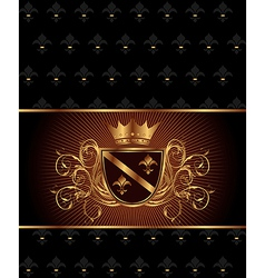luxury vintage frame template - vector image