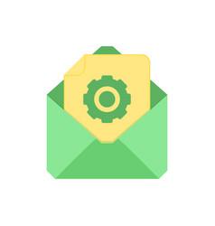 mail symbol envelope icon settings envelope vector image