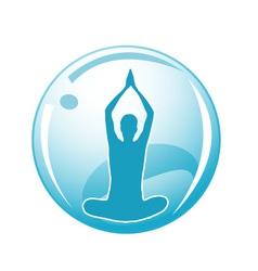 Meditation logo vector image