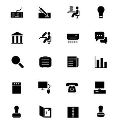 Office icons 3 vector