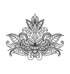 Persian or indian paisley floral element vector