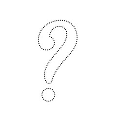 Question mark sign black dotted icon on vector