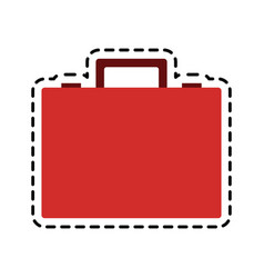 Red suitcase icon image vector
