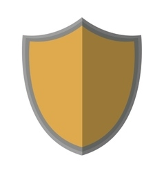 shield protection classic empty shadow vector image
