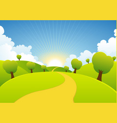 spring or summer seasons rural background vector image vector image