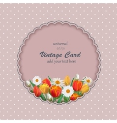 Spring Vintage with Flowers vector image