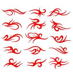 tribal tattoo element set vector image vector image