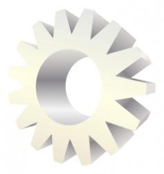 vector icon gear vector image
