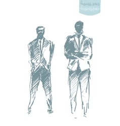 Set of a standing businessman Concept vector image