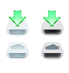 Cloud storage and download concept vector