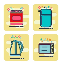 Flat design elements of household goods home vector