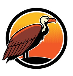 Vulture bird mascot vector