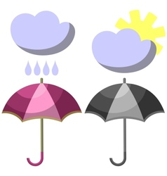 Umbrella set 001 vector