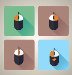Computer mouse icons vector