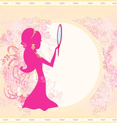 Girl and jewellerys - abstract background vector image