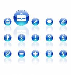 Aqua icons vector