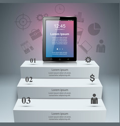 3d infographictablet icon vector