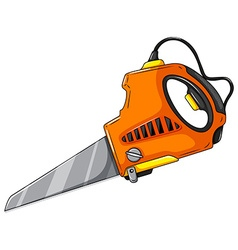 Electric saw on white vector
