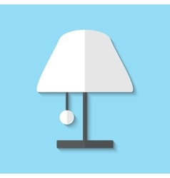 Lamp web icon vector