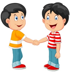 Little boys holding hand vector