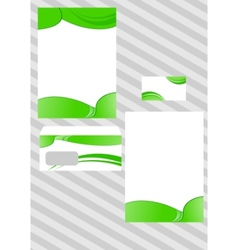 Corporate ecological design template vector