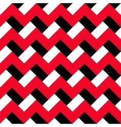 Chevron red black pattern vector