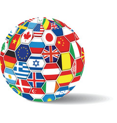 World flags ball vector