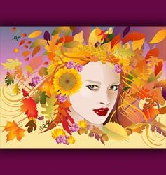 autumn face vector image