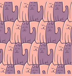 Abstract repeat pattern cats dogs romantic vector
