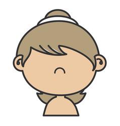 Beautiful little girl shirtless character vector