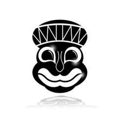 Black ethnic mask with reflection vector image vector image